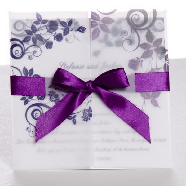 Lila Ornament Mit Lila Schleife Hochzeitskarten Kp136 Kp136
