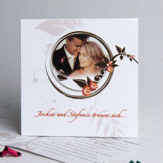 Romantische Rosa Hochzeitskarten Mit Foto Kp335 Kp335 0 00