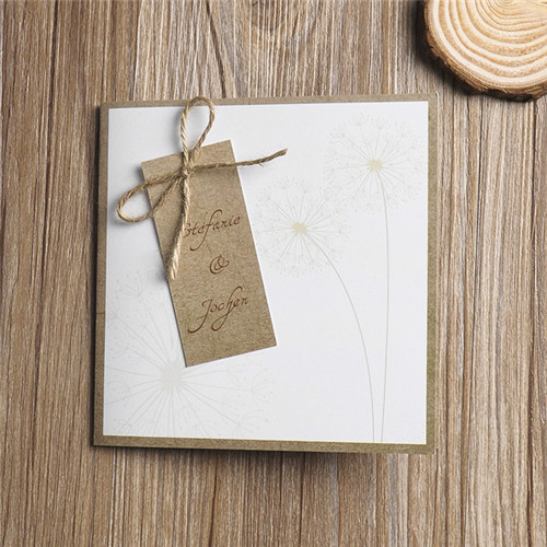 Rustikale Loewenzahn Einladungskarten Hochzeit Kpl019 Kpl019
