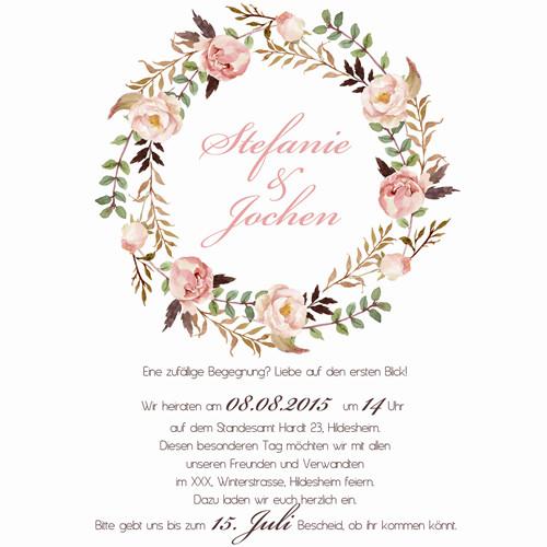 Boho Style Hochzeitseinladung Mit Laser Ausschnitt Kpl206 Kpl206