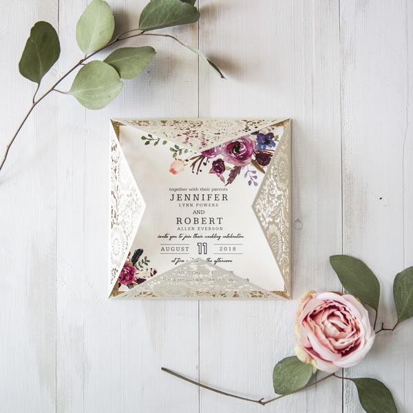 Einladungskarte Blumen Traumhafte Einladungskarten Zur Hochzeit丨