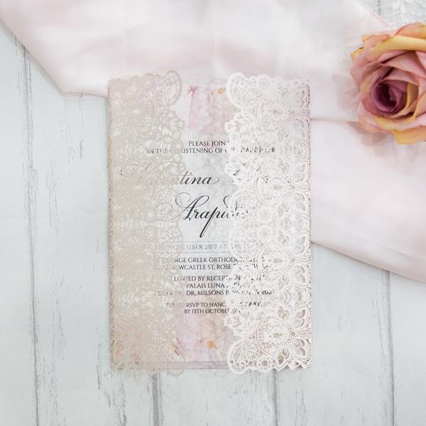 Romantische Rose Spitze Motiv Hochzeitskarten Kpl319 Kpl319