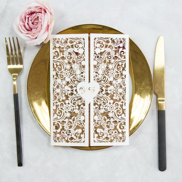 Lasercut Hochzeitskarten : Traumhafte Einladungskarten Zur