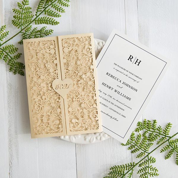 Butter Shimmer Lasercut Namen Hochzeitskarte Kpl345 Kpl345 0 00