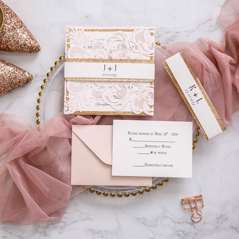 Rosa Hochzeitskarten Traumhafte Einladungskarten Zur Hochzeit丨