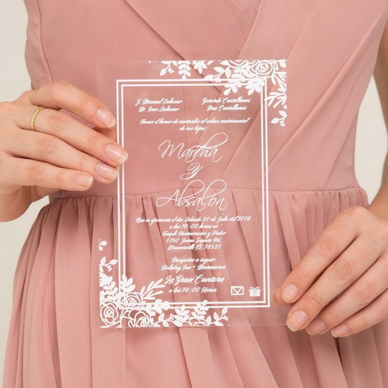 Acryl Einladungen : Traumhafte Einladungskarten Zur