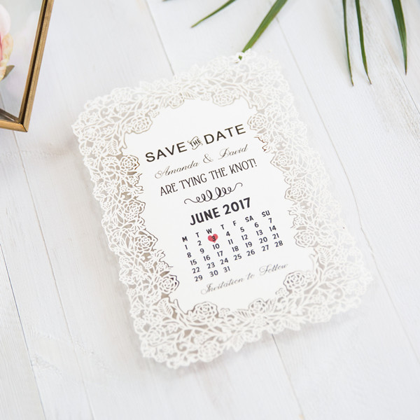Save the Date Lasercut Karten TFL004