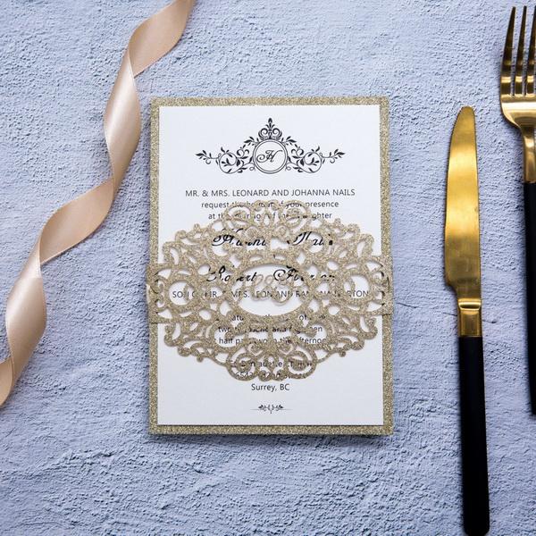 Goldene Hochzeitskarten Traumhafte Einladungskarten Zur Hochzeit丨